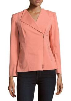 Lafayette 148 Sienna Front-Zip Jacket