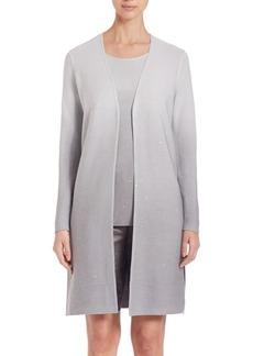 Lafayette 148 New York Silk & Cotton Sequin Ombré Cardigan