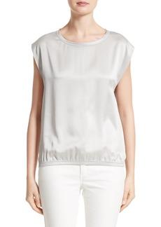 Lafayette 148 New York Silk & Linen Top