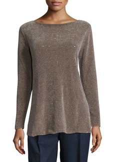 Lafayette 148 Silk Chenille Sequin Sweater