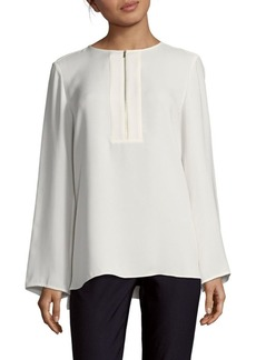 Lafayette 148 New York Silk Lizzy Cloud Blouse