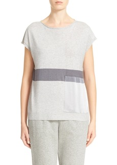 Lafayette 148 New York Silk Trim Sweater
