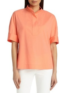Lafayette 148 Silvia Italian Stretch-Cotton Blouse