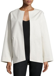 Lafayette 148 New York Siri Open-Front Topper Jacket