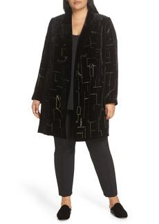 Lafayette 148 New York Sivan Embellished Velvet Blazer (Plus Size)