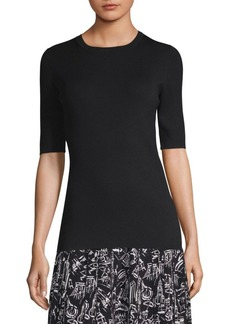 Lafayette 148 Slim Fit Silk Sweater