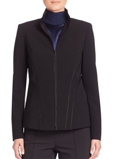 Lafayette 148 Sleek Tech Cloth Kat Jacket