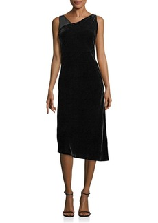 Lafayette 148 Sleeveless Asymmetrical Velvet Lorde Dress