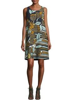 Lafayette 148 New York Sleeveless Floral-Print Cloqué Shift Dress