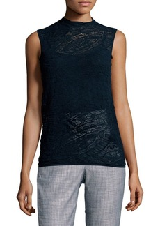 Lafayette 148 Sleeveless Knit Bateau Top