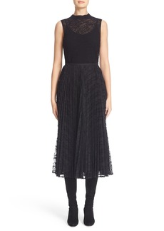 Lafayette 148 New York Sleeveless Lace Knit Sweater