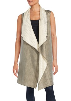 Lafayette 148 Sleeveless Open-Front Cape