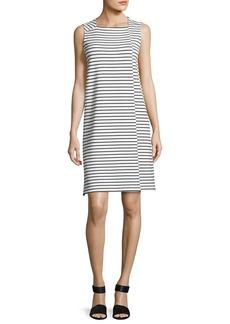 Sleeveless Square-Neck Striped Dress