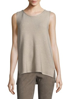 Lafayette 148 New York Sleeveless Tunic Tea Flower Top