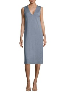 Lafayette 148 New York Sleeveless V-Neck Knee-Length Dress