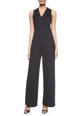 Lafayette 148 New York Sleeveless Wide-Leg Jumpsuit