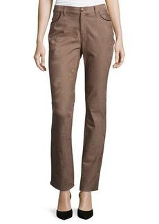 Lafayette 148 New York Slim-Fit Jacquard Pants