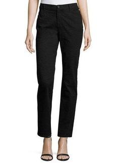 Lafayette 148 New York Slim-Fit Textured Denim Pants