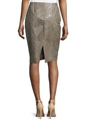 Lafayette 148 New York Slim Leather Pencil Skirt