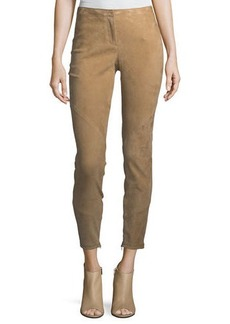 Lafayette 148 New York Slim Suede Ankle-Zip Pants