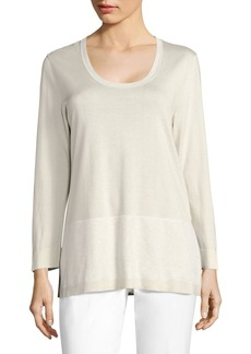 Lafayette 148 New York Slit Classic Sweater