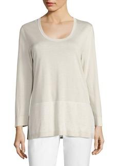 Lafayette 148 New York Slit Classic Sweater
