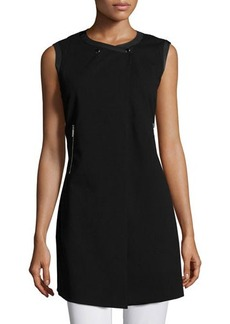 Lafayette 148 New York Snap-Front Sleeveless Vest