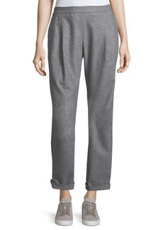 Lafayette 148 New York Soho Italian Flannel Track Pants