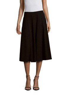 Lafayette 148 New York Solid A-Line Skirt
