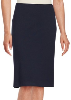 Lafayette 148 New York Solid Fitted Skirt
