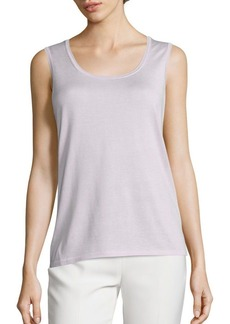 Lafayette 148 New York Solid Iced Viole Tank