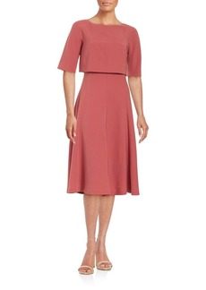 Lafayette 148 New York Solid Popover Dress