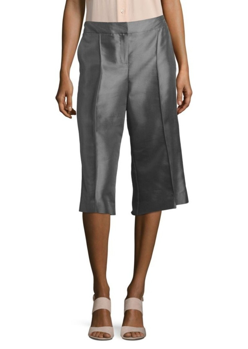 Lafayette 148 New York Solid Silk-Blend Culottes