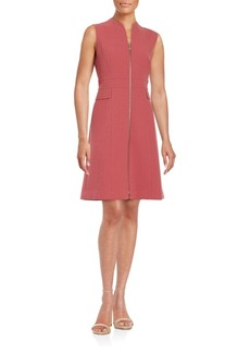 Lafayette 148 New York Solid Sleeveless Wool Blend Dress