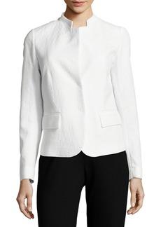 Lafayette 148 New York Solid Textured Cotton Jacket