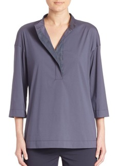Lafayette 148 New York Solid Winnie Blouse