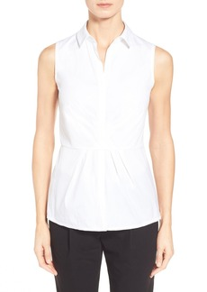 Lafayette 148 New York 'Sophie' Sleeveless Stretch Poplin Shirt