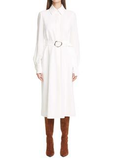 Lafayette 148 New York Soraya Belted Long Sleeve Shirtdress