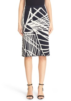 Lafayette 148 New York Spindled Jacquard Skirt