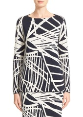 Lafayette 148 New York Spindled Jacquard Sweater