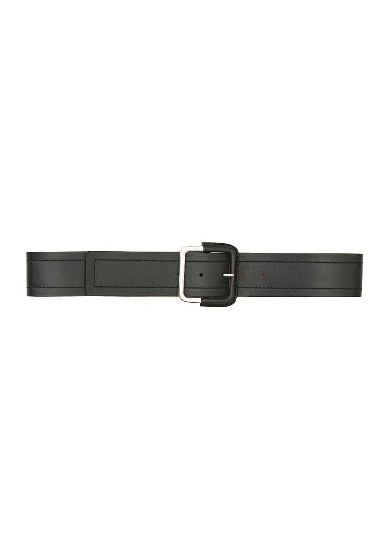 Lafayette 148 New York Square Buckle Leather Belt