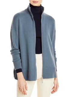 Lafayette 148 New York Stand Cashmere Zip Sweater