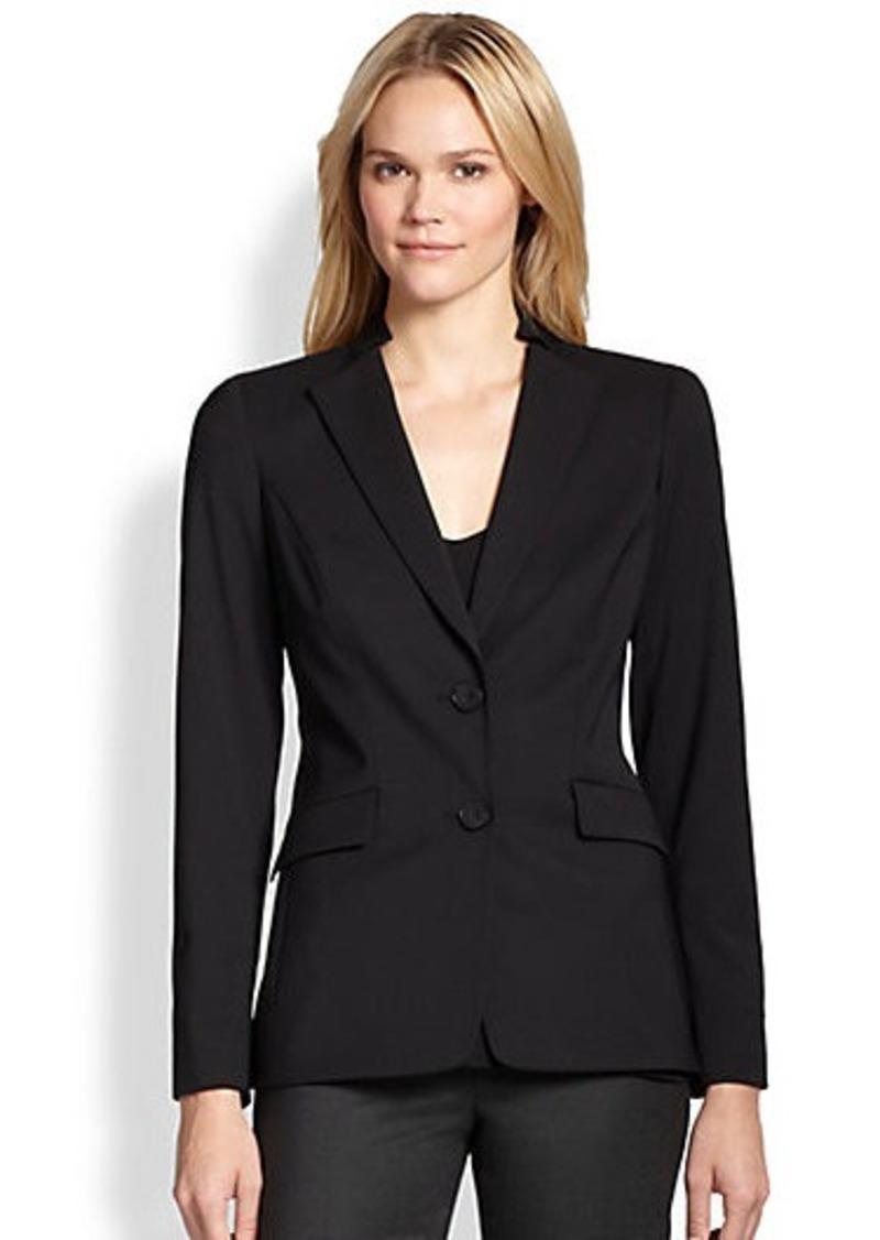 Lafayette 148 New York Stand-Collar Stretch-Wool Jacket