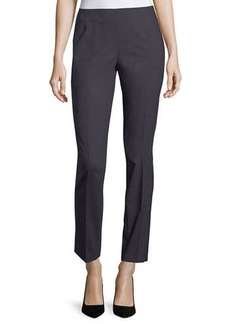 Lafayette 148 New York Stanton Full-Length Stretch-Wool Pants
