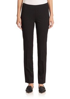 Lafayette 148 New York Stanton Stretch Wool Full-Length Pants