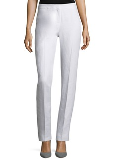 Lafayette 148 New York Straight-Leg Linen Pants