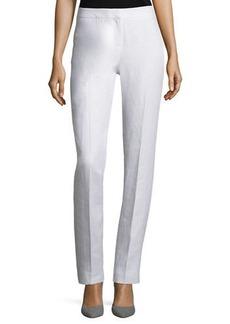 Lafayette 148 New York Straight-Leg Linen Pants