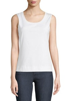 Lafayette 148 Stretch Cotton Scoop Neck Tank