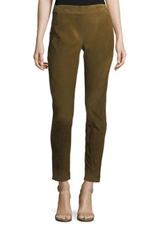 Lafayette 148 New York Stretch-Suede Leggings