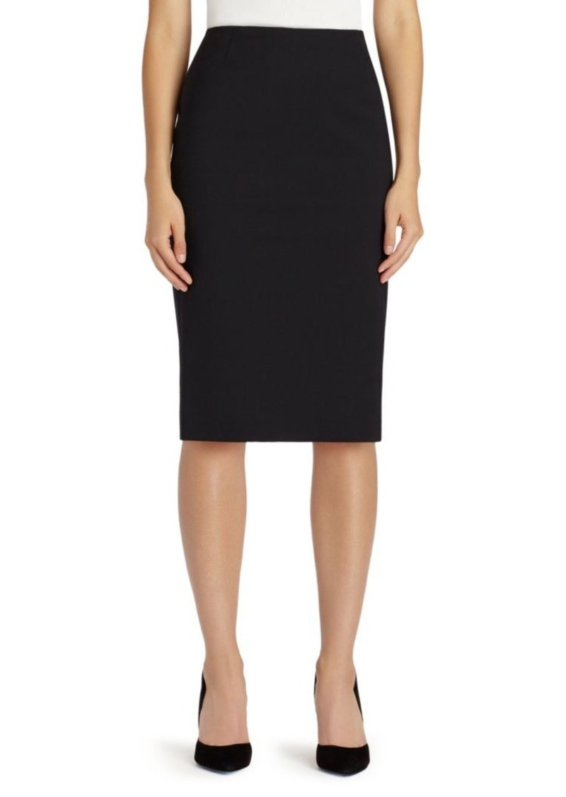 Lafayette 148 Stretch Wool Skirt
